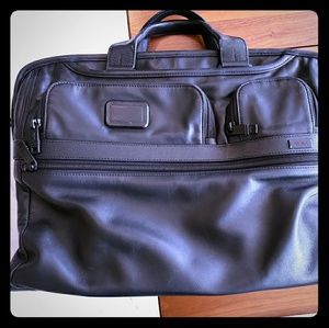 Tumi leather laptop case